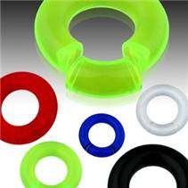 Piercing - segment kruh 4x24 mm, barva modrá