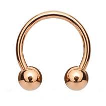 Piercing podkova, barva růžové zlato, rozměr 1,2 x 8 mm