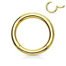 Piercing segment kruh - zlatý