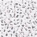 Plastový korálek - číslice