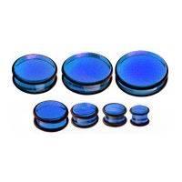 Plug do ucha - modrý akrylát