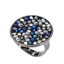 Prsten s krystaly Crystals from Swarovski® BLUE PEPPER