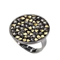 Prsten s krystaly Crystals from Swarovski® GOLDEN CHOCOLATE