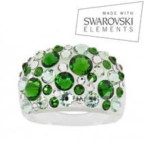 Prsten s krystaly Crystals from Swarovski®, Green