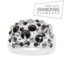 Prsten s krystaly Crystals from Swarovski®, Jet