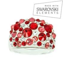 Prsten s krystaly Crystals from Swarovski®, Siam