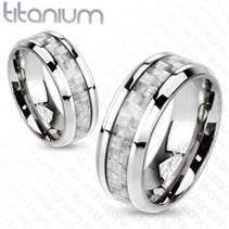 Prsten titan - karbon, šíře 8 mm, vel. 67