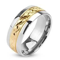 Prsten titan, šíře 6 mm, vel. 57