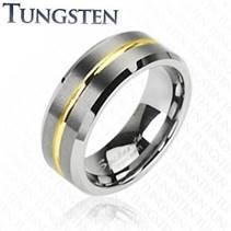 Prsten wolfram, šíře 8 mm