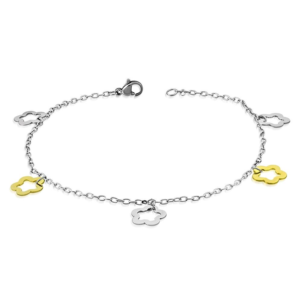 2ab555973 Řetízek na nohu s kytičkami | Šperky4U.eu