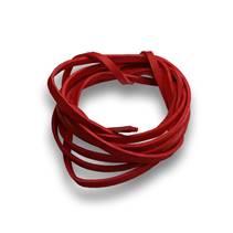 Řezaná kožená šňůrka červená, tl. 2 mm, délka 100 cm