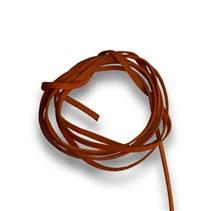 Řezaná kožená šňůrka oranžová, tl. 2 mm, délka 100 cm