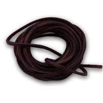 Řezaná kožená šňůrka tm. hnědá, tl. 2 mm, délka 100 cm