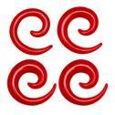 Roztahovák do ucha - spirála červená
