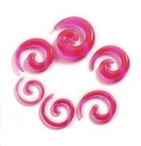 Roztahovák do ucha - spirála růžová průhledná