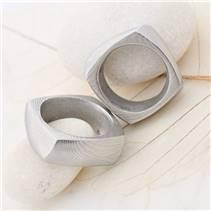 Ručně kovaný ocelový prsten Damasteel KUMALI
