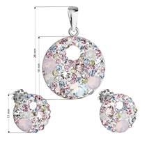 Sada náušnic a přívěšku s kamínky Crystals from Swarovski® Magic Rose