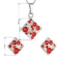 Sada šperků - čtverce s kameny Crystals from Swarovski® Siam
