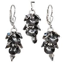 Sada šperků - hrozen se šedými kameny Crystals from Swarovski®