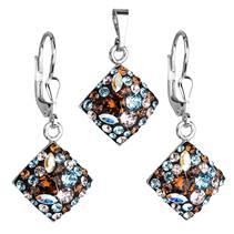 Sada šperků čtverce Crystals from Swarovski®