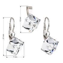 Sada šperků kostky Crystals from Swarovski® Crystal
