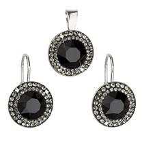 Sada šperků s kameny Crystals from Swarovski® Black Diamond