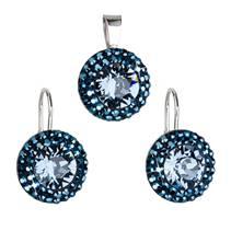 Sada šperků s kameny Crystals from Swarovski® METALIC BLUE