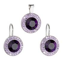 Sada šperků s kameny Crystals from Swarovski® Purple Velvet
