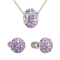 Sada šperků s kameny Crystals from Swarovski® Violet
