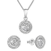 Sada šperků s krystaly Swarovski náušnice a přívěsek v bílé barvě 79034.1