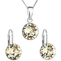 Sada stříbrných šperků s kameny Crystals from Swarovski® Yellow