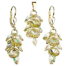 Sada zlacených šperků - hrozen s kameny Crystals from Swarovski®