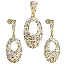 Sada zlacených šperků s kamínky Crystals from Swarovski®
