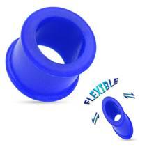 Silikonový tunel do ucha - modrý