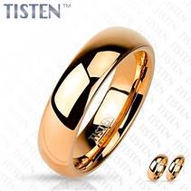 Snubní prsten TISTEN růžové zlato, šíře 6 mm, vel. 57