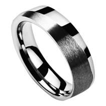 Snubní prsten wolfram, šíře 6 mm, vel. 59