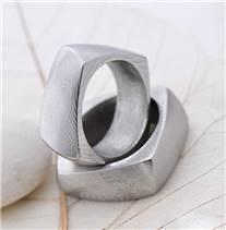 Snubní prsteny Damasteel Kumali - pár