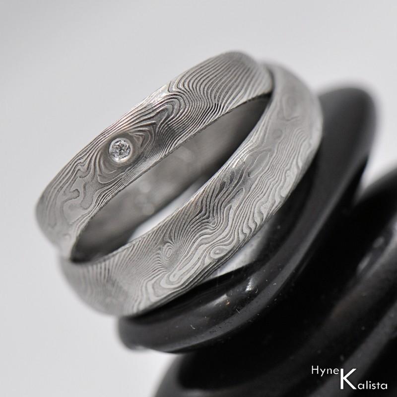 Snubni Prsteny Damasteel Prima Diamant 2 0mm Par Sperky4u Eu