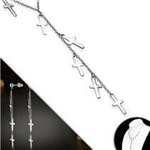 Souprava šperků z chirurgické oceli s křížky