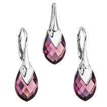 Souprava stříbrných šperků kameny s Crystals from Swarovski® AMETHYST