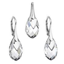 Souprava stříbrných šperků kameny s Crystals from Swarovski® CRYSTAL