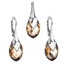 Souprava stříbrných šperků kameny s Crystals from Swarovski® LIGHT COLORADO