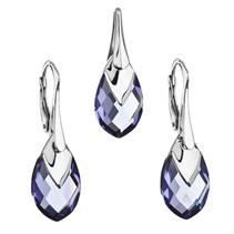 Souprava stříbrných šperků kameny s Crystals from Swarovski® TANZANITE