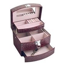 Šperkovnice - bordó koženka