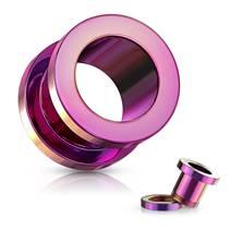 Šroubovací tunel do ucha fialový, průměr 25 mm