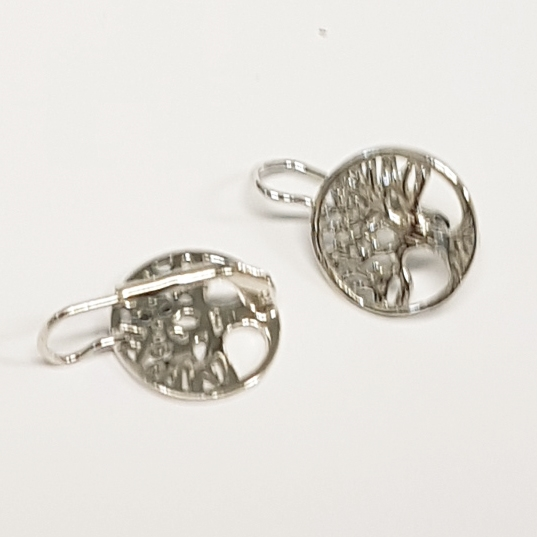 88a847c30 Stříbrné dámské náušnice - strom života | Šperky4U.eu