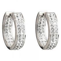 Stříbrné kruhy 22mm s krystaly Crystals from Swarovski®