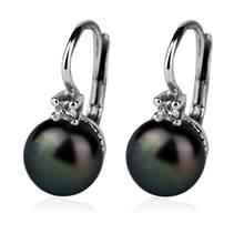 Stříbrné náušnice přírodní perly 8 mm