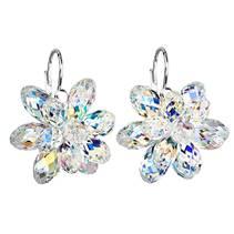 Stříbrné náušnice s kameny Crystals from Swarovski® AB