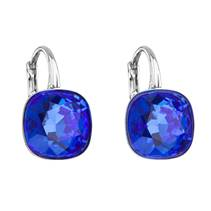 Stříbrné náušnice s kameny Crystals from Swarovski® MAJESTIC BLUE